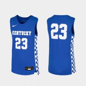 Kentucky Wildcats Jersey For Kids Replica Royal #23 Basketball