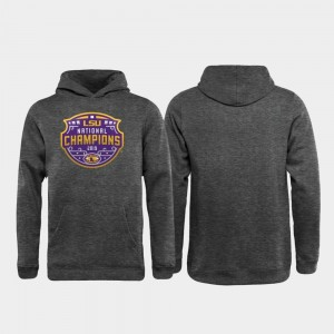 LSU Tigers Hoodie College Football Playoff Encroachment For Kids 2019 National Champions Heather Gray