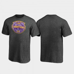 LSU Tigers T-Shirt 2019 National Champions Youth(Kids) Heather Gray Encroachment College Football Playoff