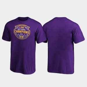 LSU Tigers T-Shirt Purple Official Logo College Football Playoff Kids 2019 National Champions
