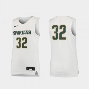 Michigan State Spartans Jersey Replica Kids #32 White Basketball
