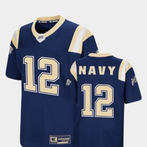 Navy Midshipmen Jersey Foos-Ball Football #12 Navy Colosseum Authentic For Kids