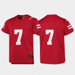 Nebraska Cornhuskers Jersey Kids Replica #7 Scarlet College Football