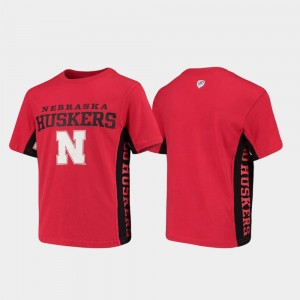 Nebraska Cornhuskers T-Shirt Side Bar Scarlet Kids