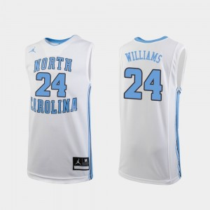 North Carolina Tar Heels Kenny Williams Jersey Replica Kids #24 White College Basketball