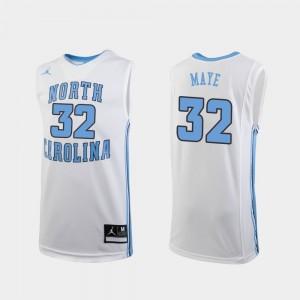 North Carolina Tar Heels Luke Maye Jersey For Kids College Basketball White #32 Replica