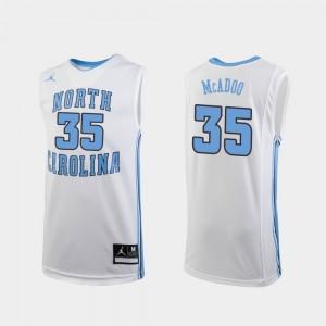 North Carolina Tar Heels Ryan McAdoo Jersey #35 White Youth(Kids) College Basketball Replica