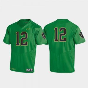 Notre Dame Fighting Irish Jersey #12 Football 2019 Youth(Kids) Replica Kelly Green