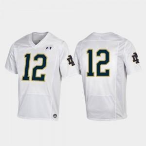 Notre Dame Fighting Irish Jersey Replica White For Kids #12 Football 2019