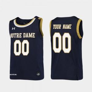 Notre Dame Fighting Irish Customized Jerseys #00 For Kids Replica College Basketball Navy