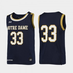 Notre Dame Fighting Irish Jersey Replica Navy Youth(Kids) #33 College Basketball