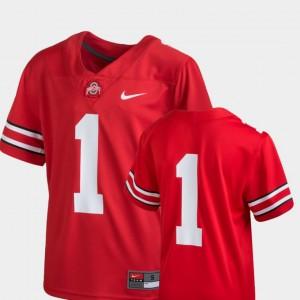Ohio State Buckeyes Jersey Scarlet College Football #1 Kids Team Replica