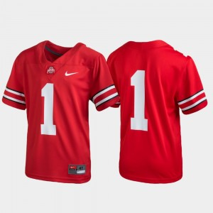 Ohio State Buckeyes Jersey Kids #1 Untouchable Football Scarlet