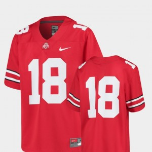 Ohio State Buckeyes Jersey Scarlet College Football #18 Replica For Kids