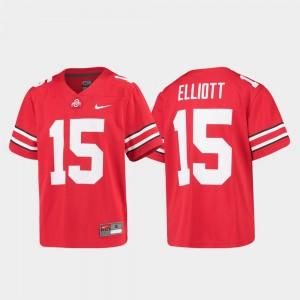 Ohio State Buckeyes Ezekiel Elliott Jersey #15 Alumni Football Game Youth Scarlet