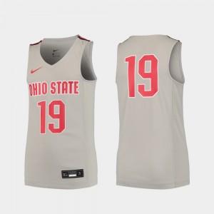 Ohio State Buckeyes Jersey College Basketball Replica Youth Gray #19