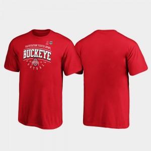 Ohio State Buckeyes T-Shirt 2019 Fiesta Bowl Bound Scarlet Kids Tackle