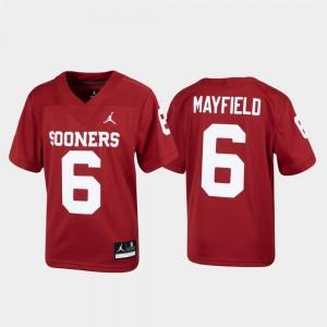 Oklahoma Sooners Baker Mayfield Jersey Alumni Football Youth #6 Crimson Replica