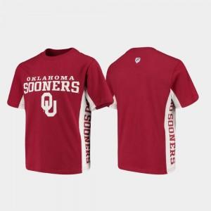 Oklahoma Sooners T-Shirt Crimson Youth Side Bar
