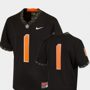 Oklahoma State Cowboys and Cowgirls Jersey For Kids #1 College Football Team Replica Black