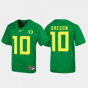Oregon Ducks Jersey For Kids Green Football Untouchable #10