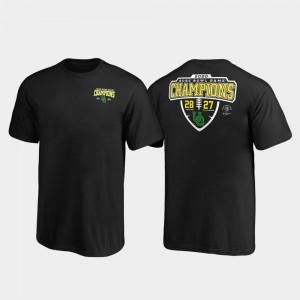 Oregon Ducks T-Shirt Youth(Kids) 2020 Rose Bowl Champions Black Lateral Score