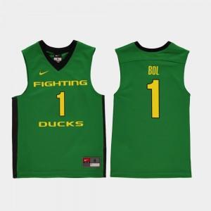 Oregon Ducks Bol Bol Jersey #1 Green College Basketball Replica Youth