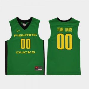 Oregon Ducks Custom Jerseys Youth(Kids) College Basketball #00 Green Replica
