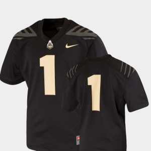 Purdue Boilermakers Jersey #1 Black Team Replica College Football Youth