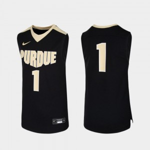 Purdue Boilermakers Jersey Replica Black #1 Youth(Kids) College Basketball