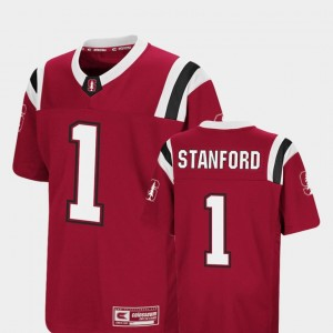 Stanford Cardinal Jersey Cardinal #1 Foos-Ball Football Colosseum Authentic Youth