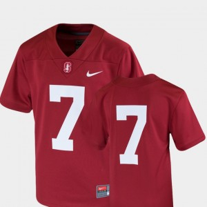Stanford Cardinal Jersey Team Replica Cardinal Youth(Kids) College Football #7