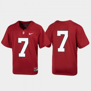 Stanford Cardinal Jersey Football Untouchable Youth #7 Cardinal