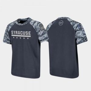 Syracuse Orange T-Shirt Kids OHT Military Appreciation Charcoal Raglan Digital Camo