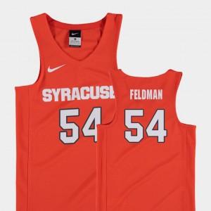 Syracuse Orange Ky Feldman Jersey Orange Replica #54 Youth(Kids) College Basketball
