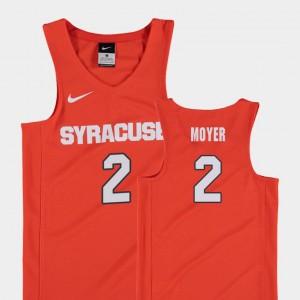 Syracuse Orange Matthew Moyer Jersey Replica #2 College Basketball Youth(Kids) Orange