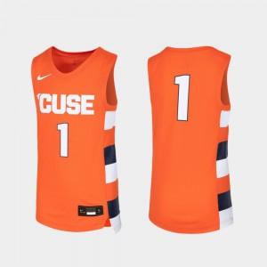 Syracuse Orange Jersey #1 Orange Basketball For Kids Replica
