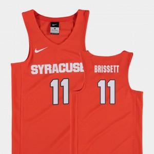 Syracuse Orange Oshae Brissett Jersey Youth College Basketball Replica Orange #11