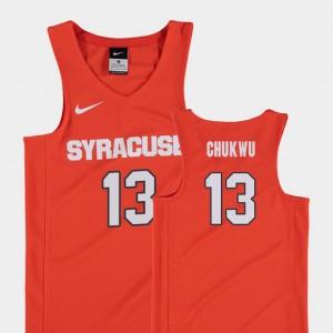 Syracuse Orange Paschal Chukwu Jersey Kids Orange Replica College Basketball #13