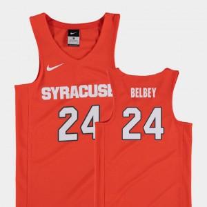 Syracuse Orange Shaun Belbey Jersey College Basketball Orange #24 Replica Kids