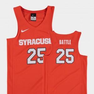Syracuse Orange Tyus Battle Jersey Replica Orange Youth College Basketball #25
