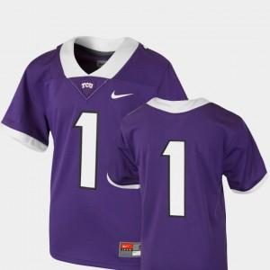 TCU Horned Frogs Jersey Purple #1 Team Replica College Football Youth(Kids)