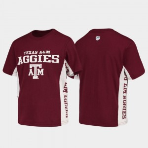 Texas A&M Aggies T-Shirt Maroon Youth Side Bar