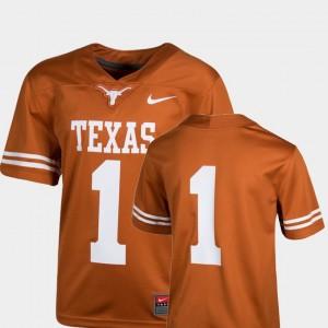 Texas Longhorns Jersey #1 Team Replica For Kids Texas Orange College Football
