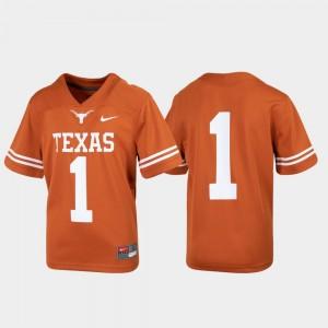 Texas Longhorns Jersey Texas Orange Untouchable #1 Football Youth