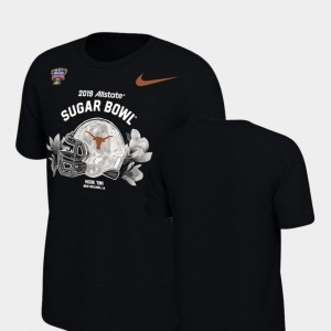 Texas Longhorns T-Shirt Youth Black 2019 Sugar Bowl Bound Illustrated Helmet