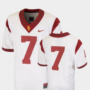 USC Trojans Jersey Team Replica Youth White College Football #7