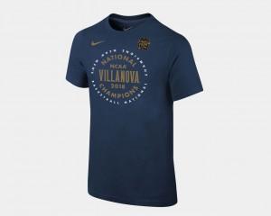 Villanova Wildcats T-Shirt Navy Basketball National Champions 2018 Celebration For Kids
