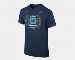 Villanova Wildcats T-Shirt Basketball National Champions Youth 2018 Locker Room Navy