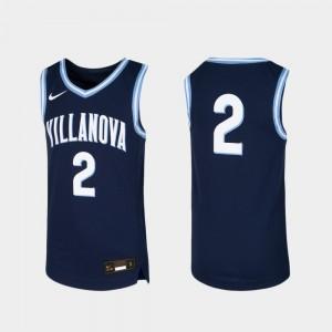 Villanova Wildcats Jersey Basketball #2 Replica For Kids Navy
